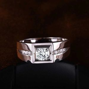 Real 925 Sterling Silver Wedding Ring For Men